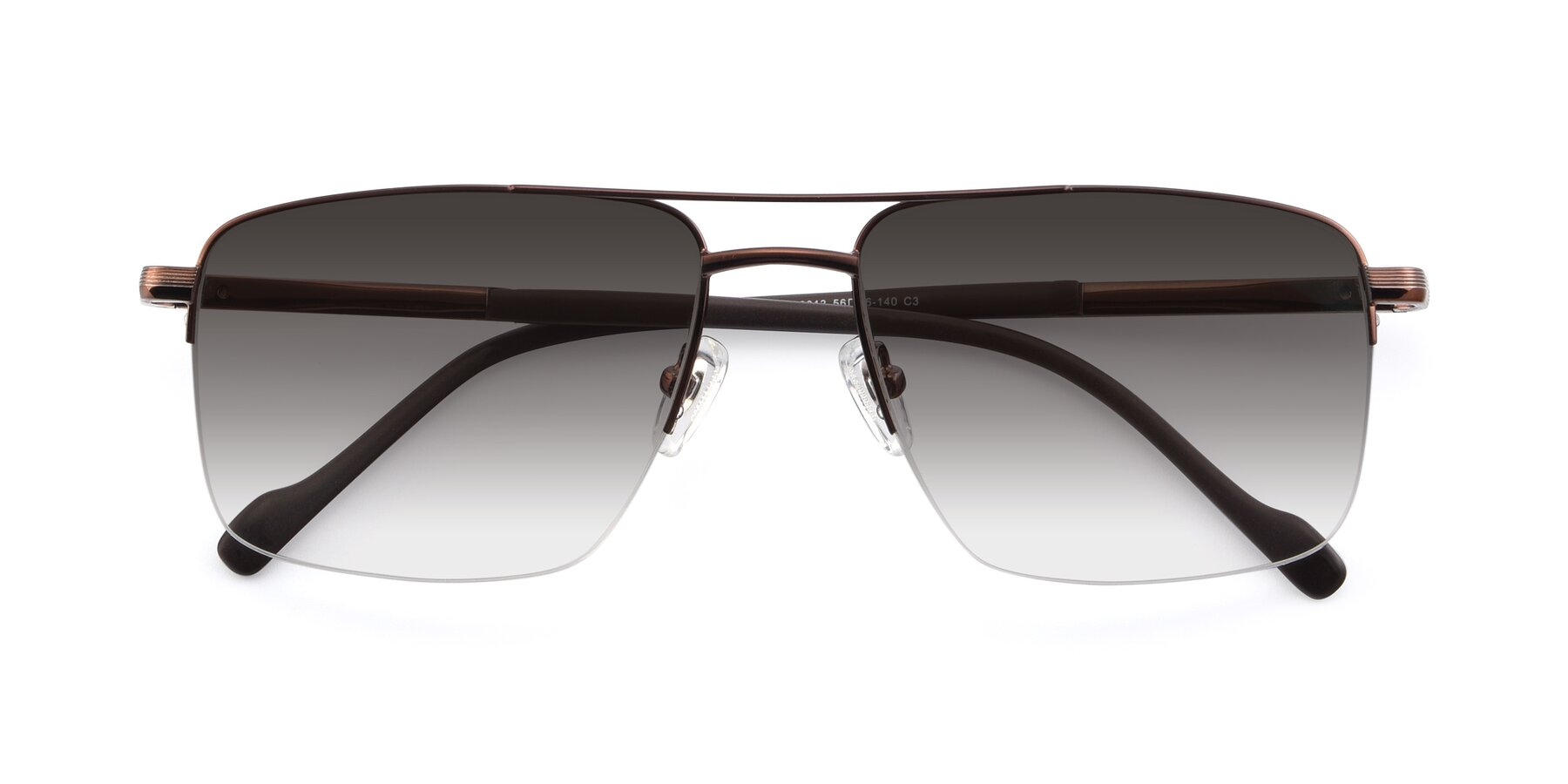 Folded Front of 19013 in Bronze with Gray Gradient Lenses