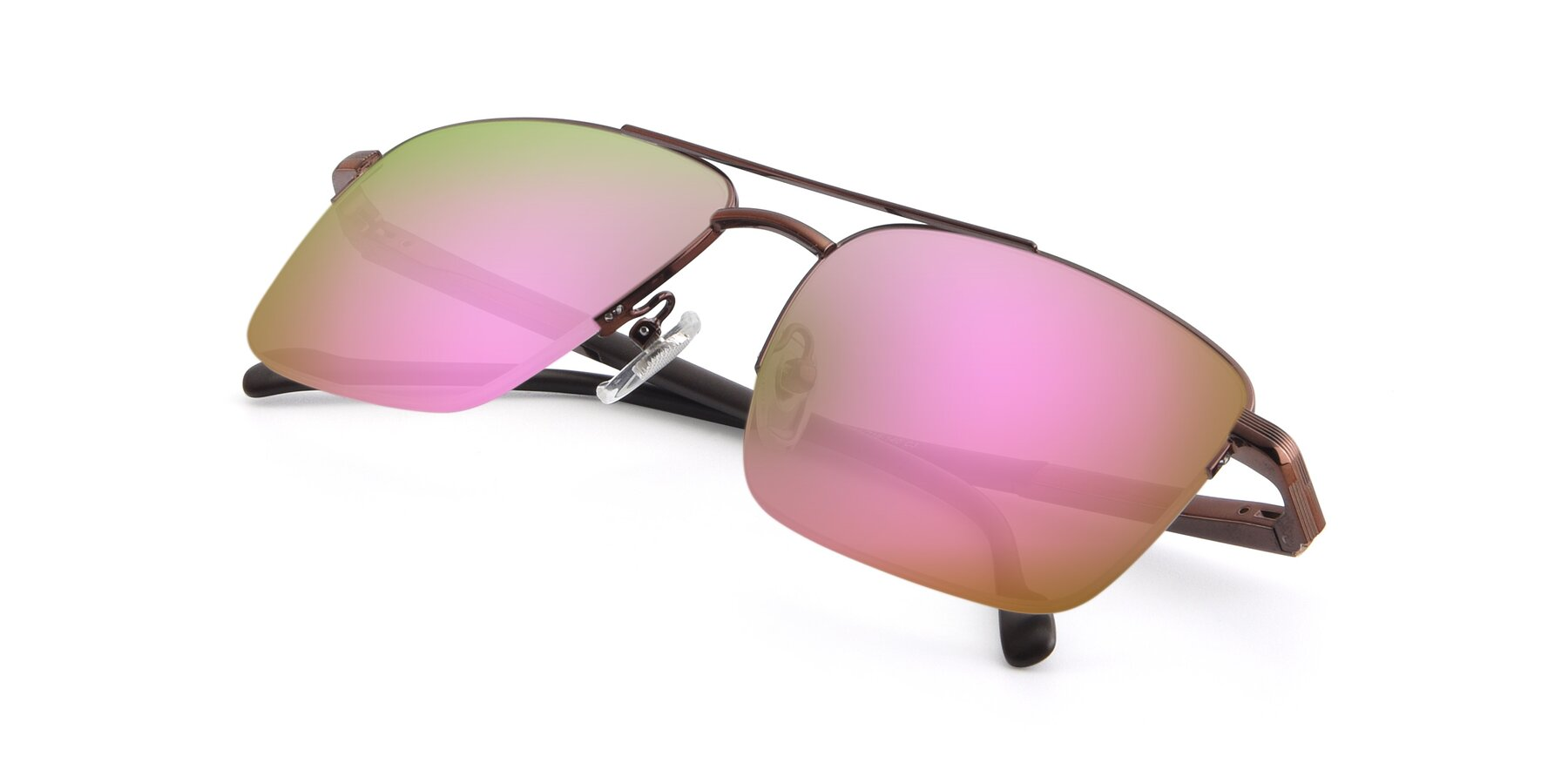 View of 19013 in Bronze with Pink Mirrored Lenses