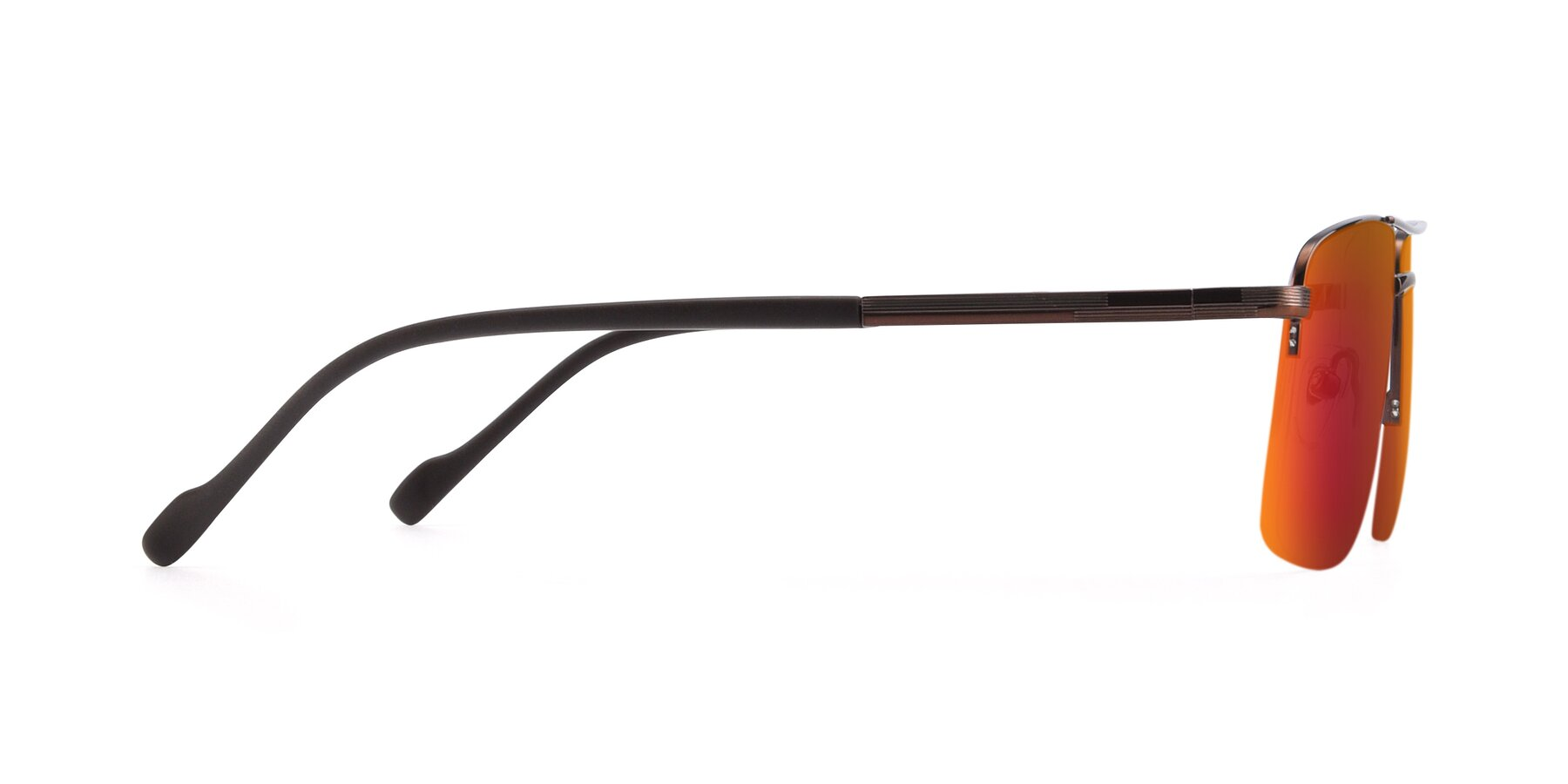 Side of 19013 in Bronze with Red Gold Mirrored Lenses