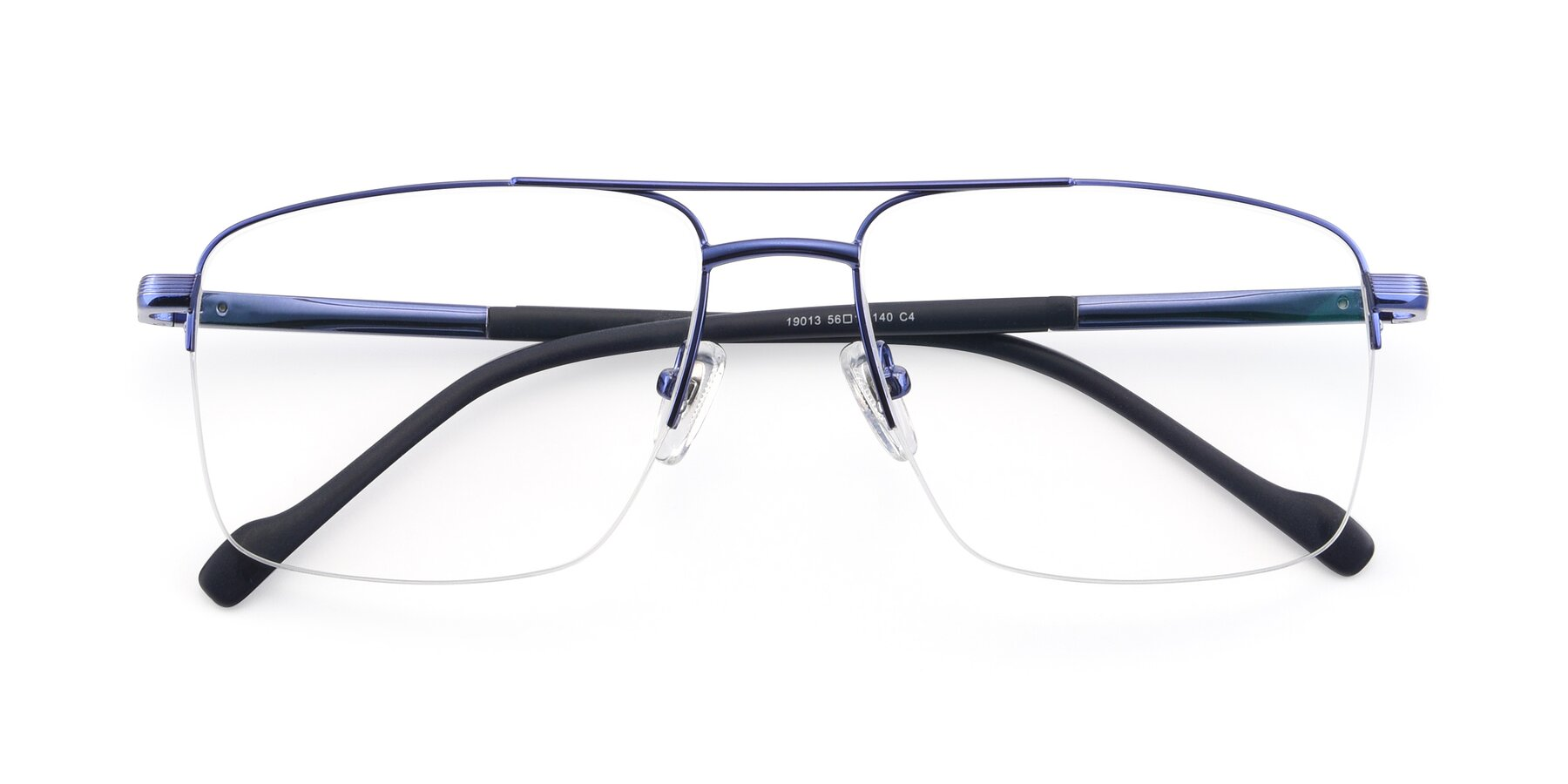 Folded Front of 19013 in Blue with Clear Blue Light Blocking Lenses