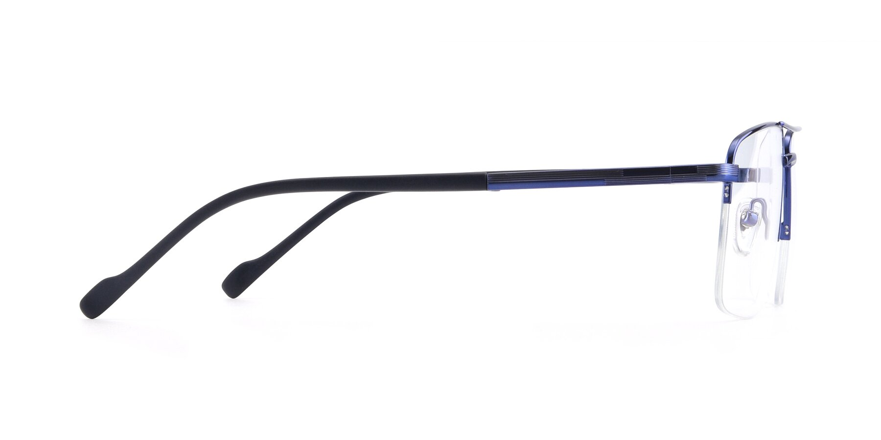 Side of 19013 in Blue with Clear Blue Light Blocking Lenses