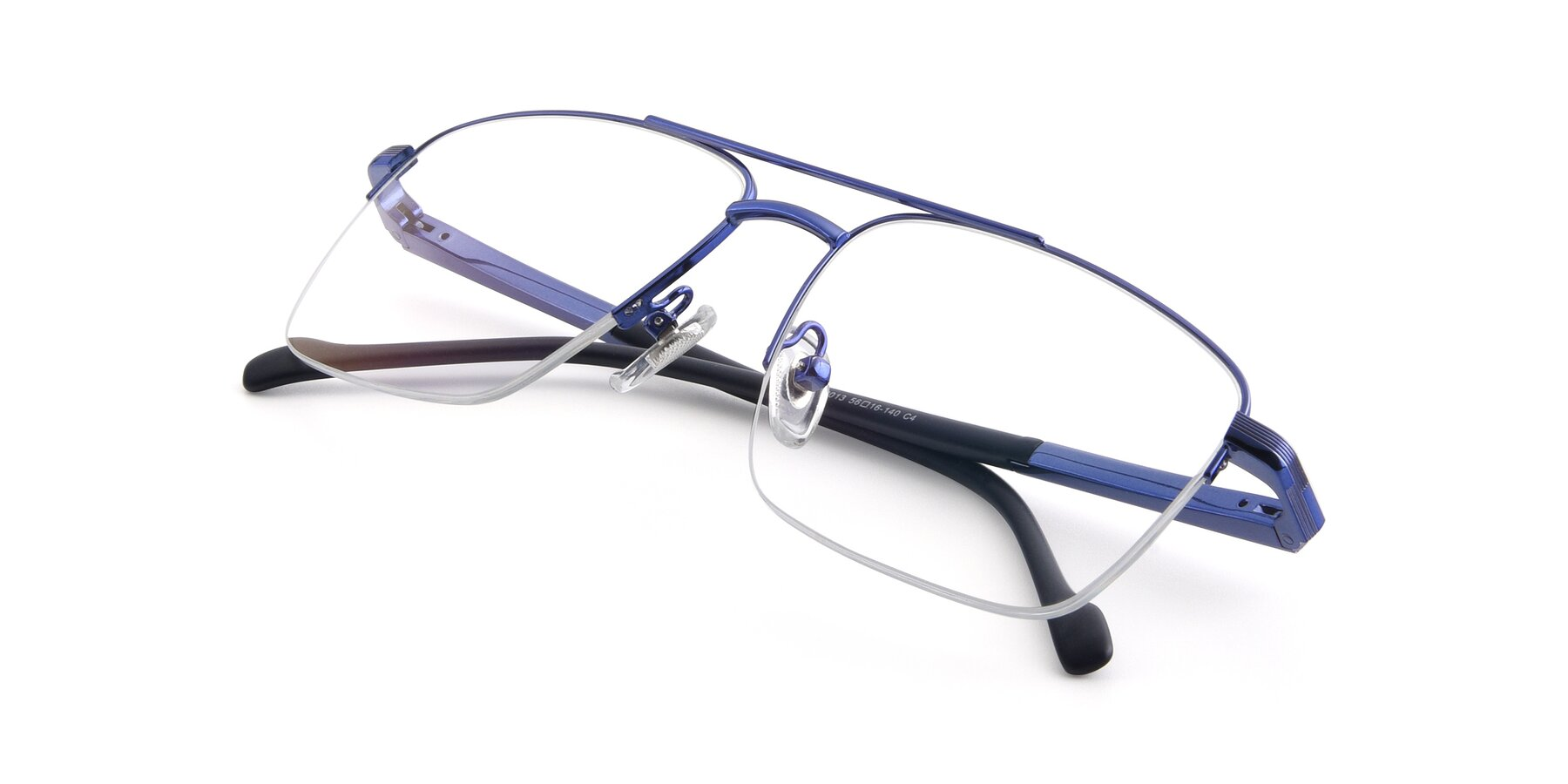 View of 19013 in Blue with Clear Blue Light Blocking Lenses