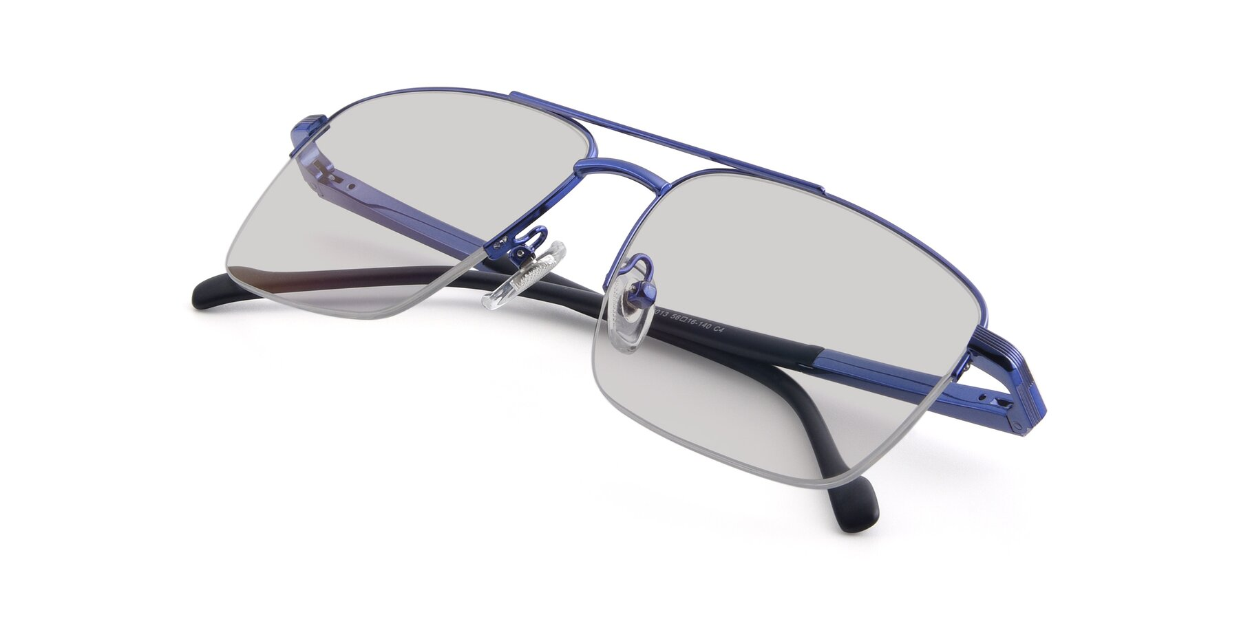 View of 19013 in Blue with Light Gray Tinted Lenses