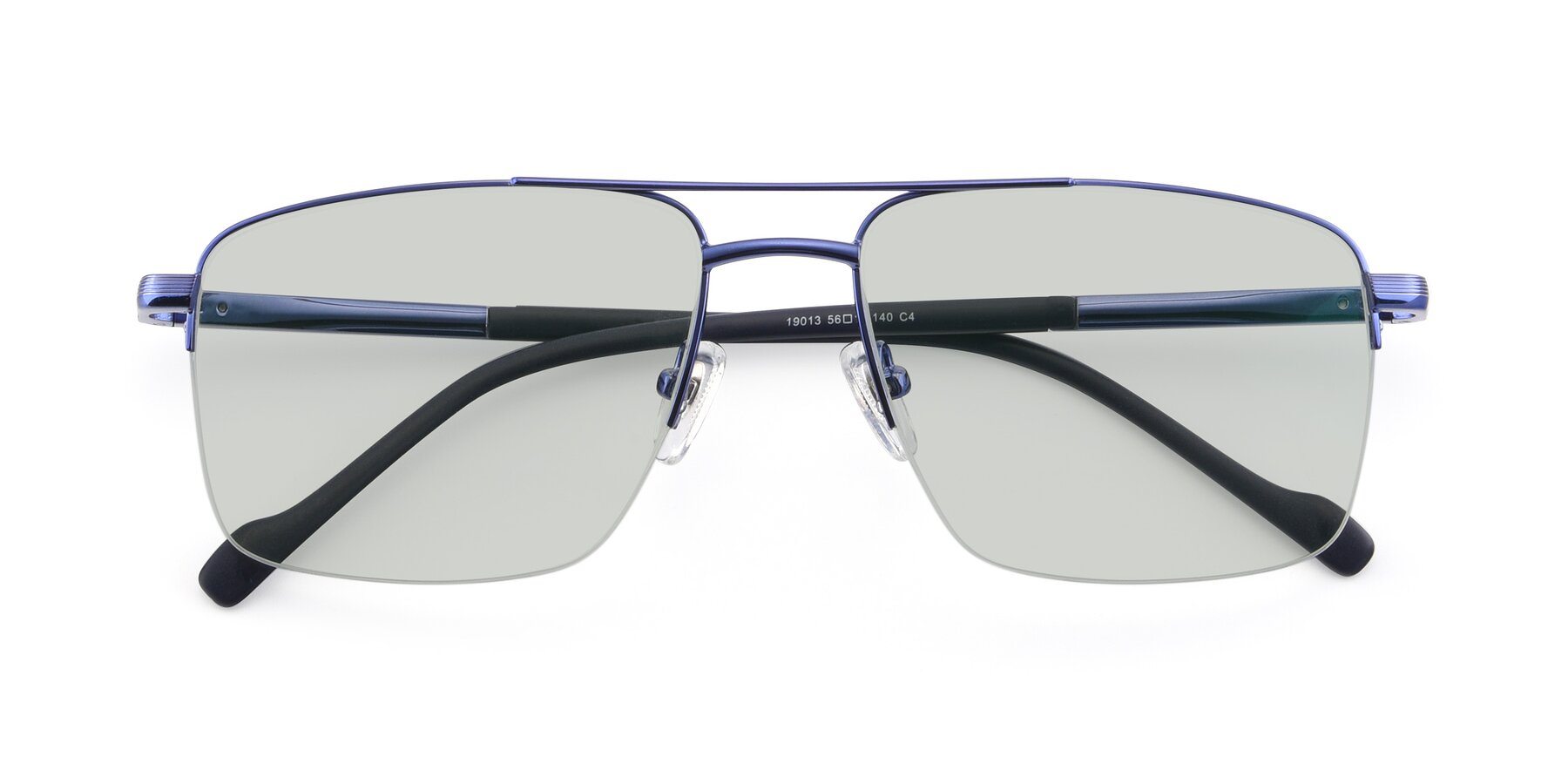Folded Front of 19013 in Blue with Light Green Tinted Lenses