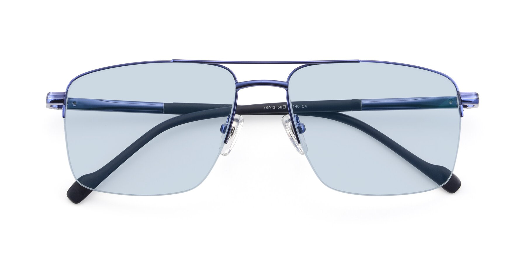 Folded Front of 19013 in Blue with Light Blue Tinted Lenses