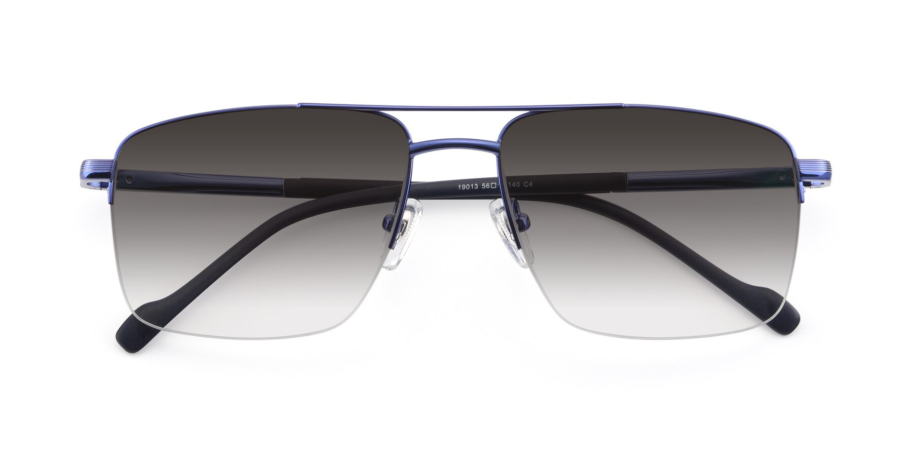 Folded Front of 19013 in Blue with Gray Gradient Lenses