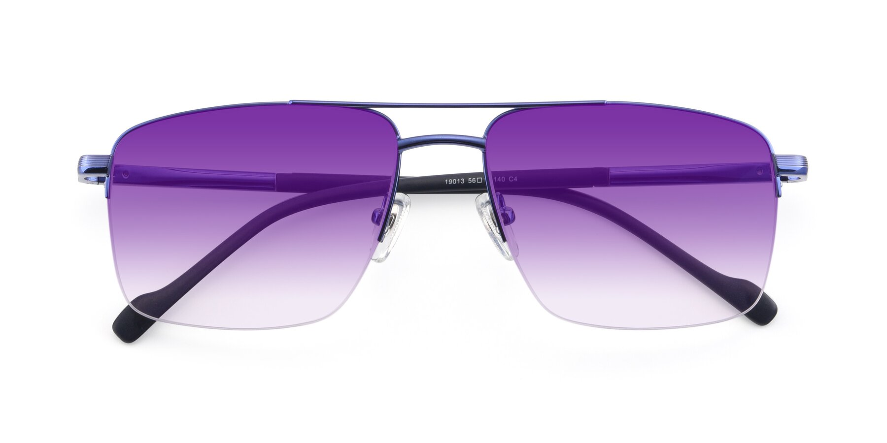 Folded Front of 19013 in Blue with Purple Gradient Lenses