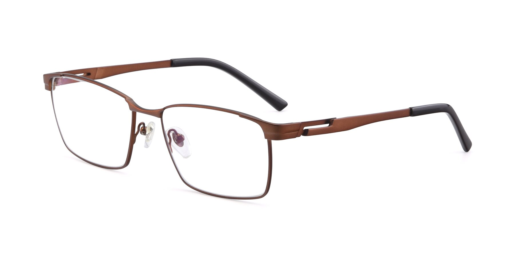 Angle of 19021 in Brown with Clear Eyeglass Lenses