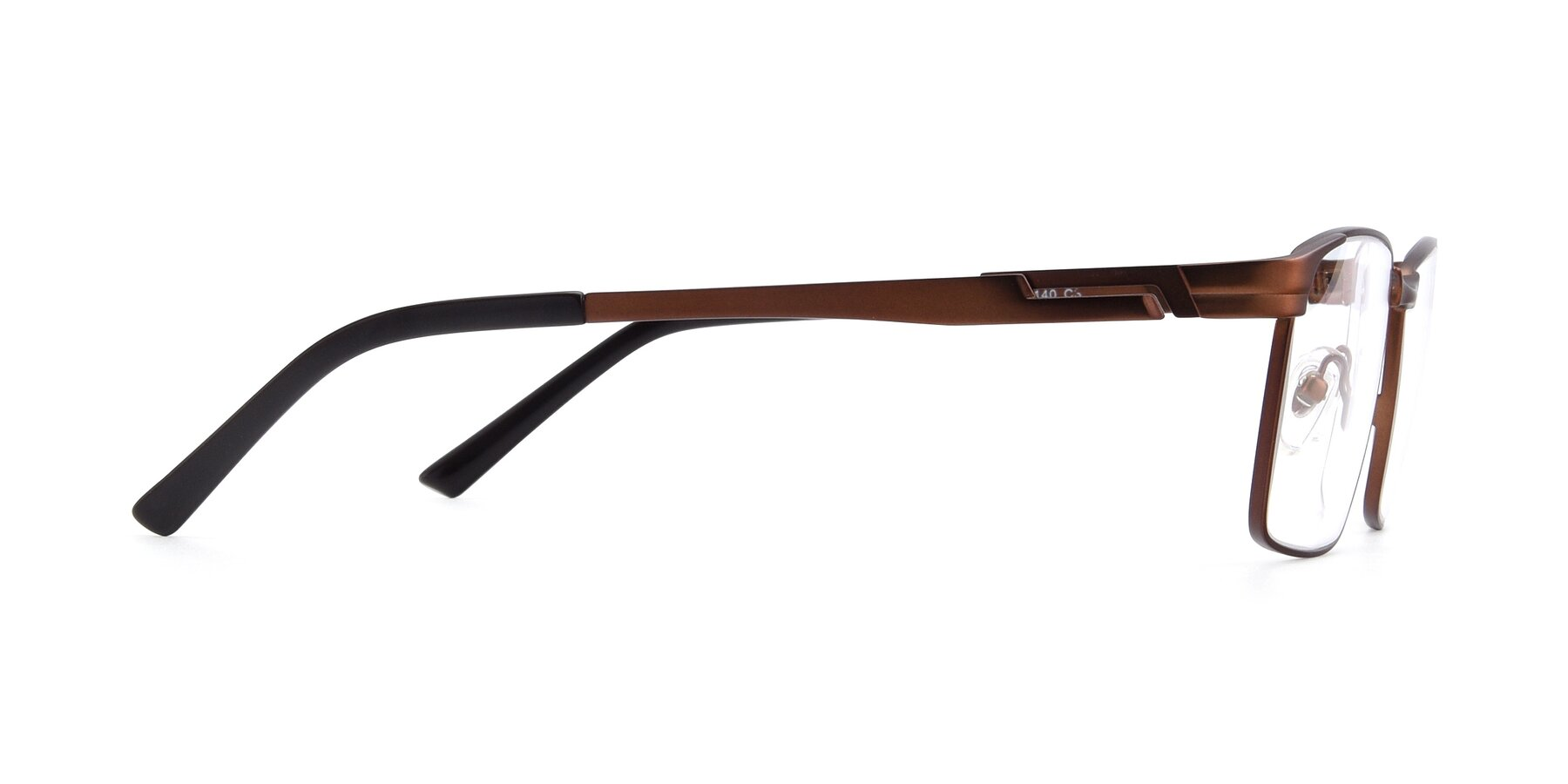 Side of 19021 in Brown with Clear Eyeglass Lenses