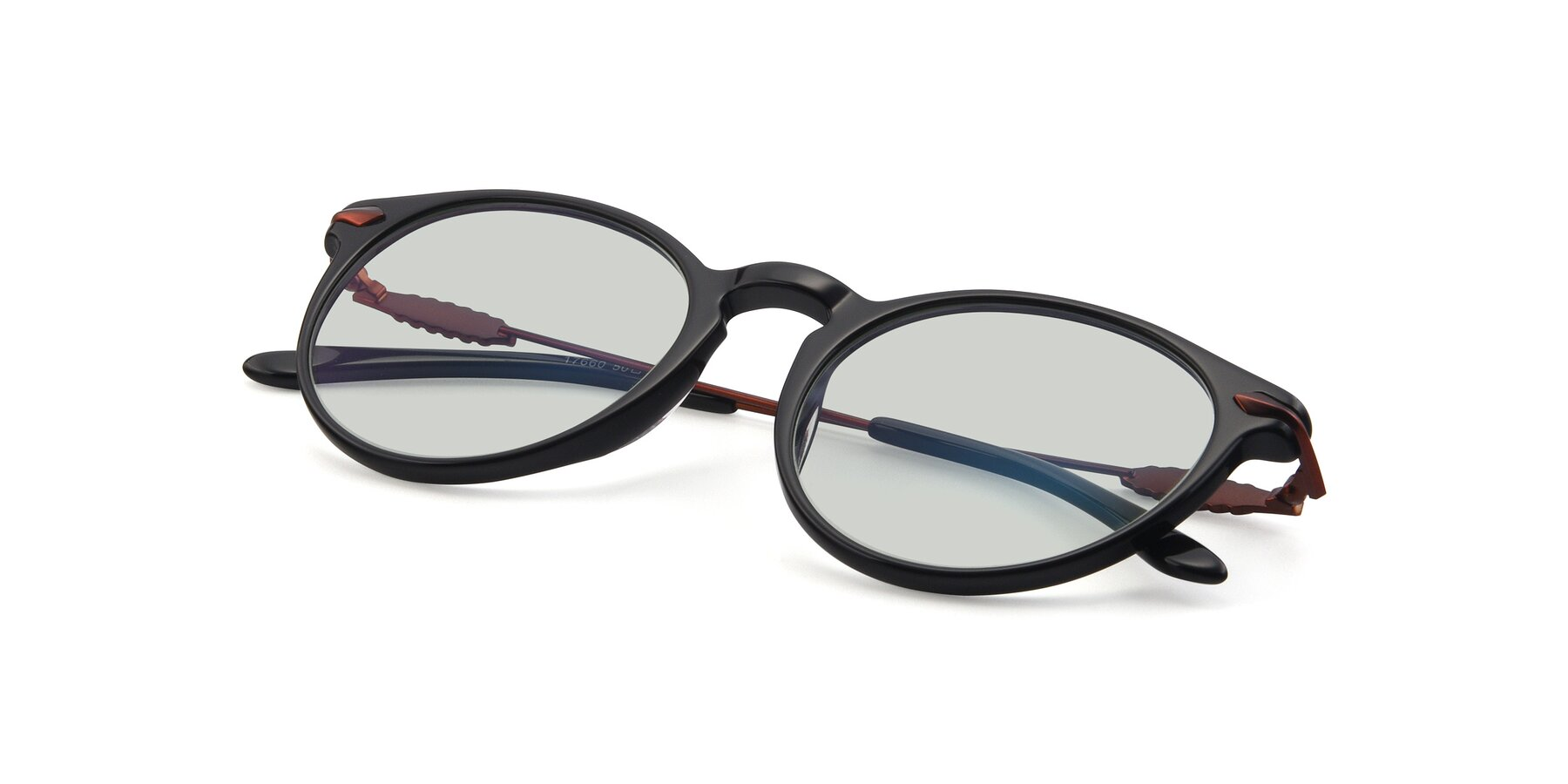 View of 17660 in Black with Light Green Tinted Lenses