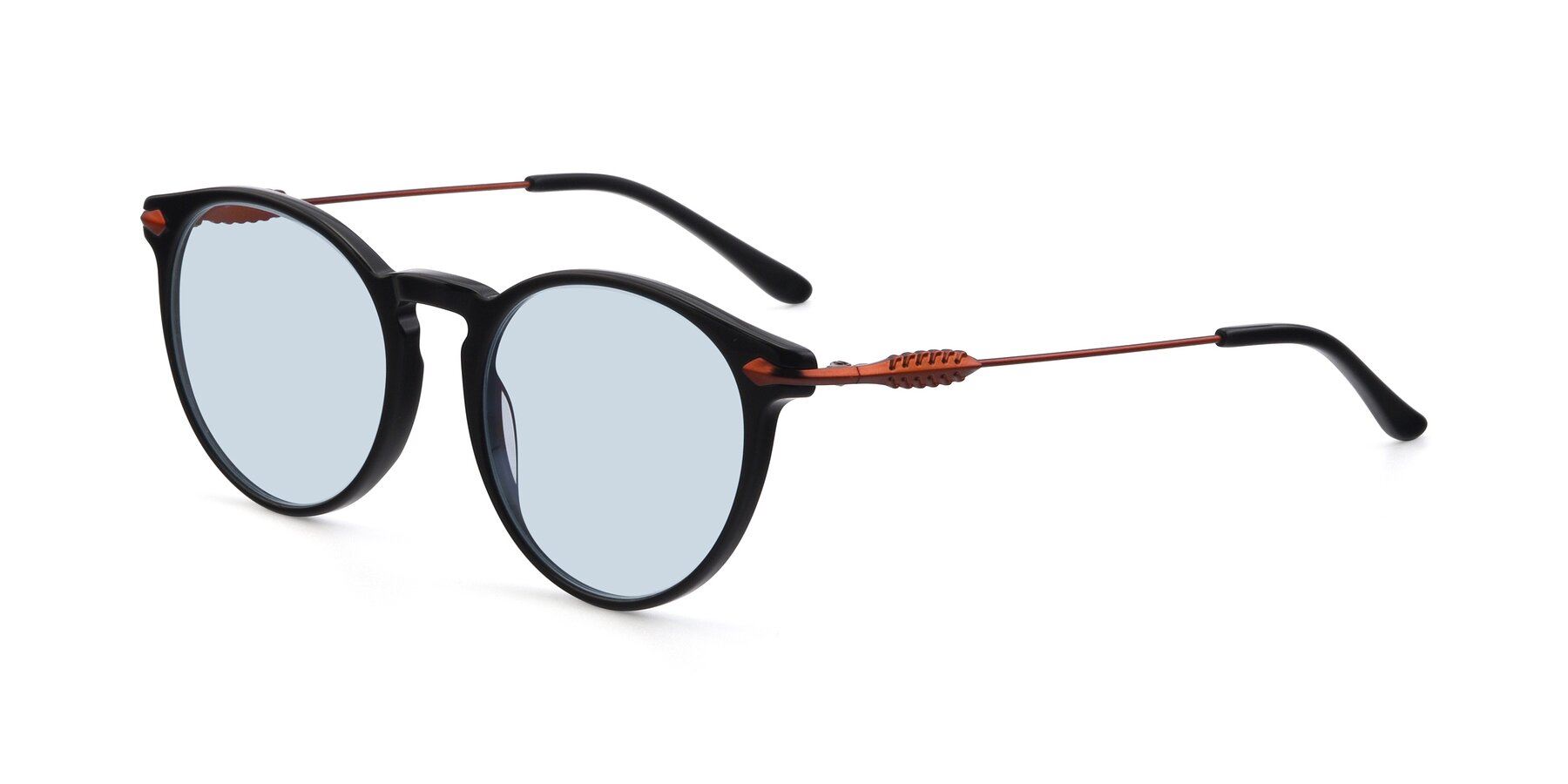 Angle of 17660 in Black with Light Blue Tinted Lenses