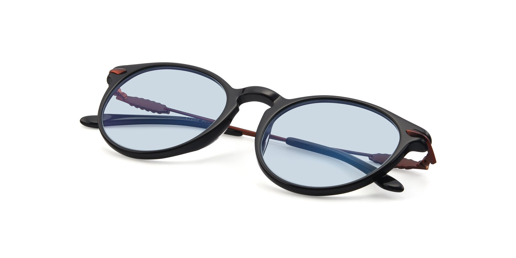 View of 17660 in Black with Light Blue Tinted Lenses