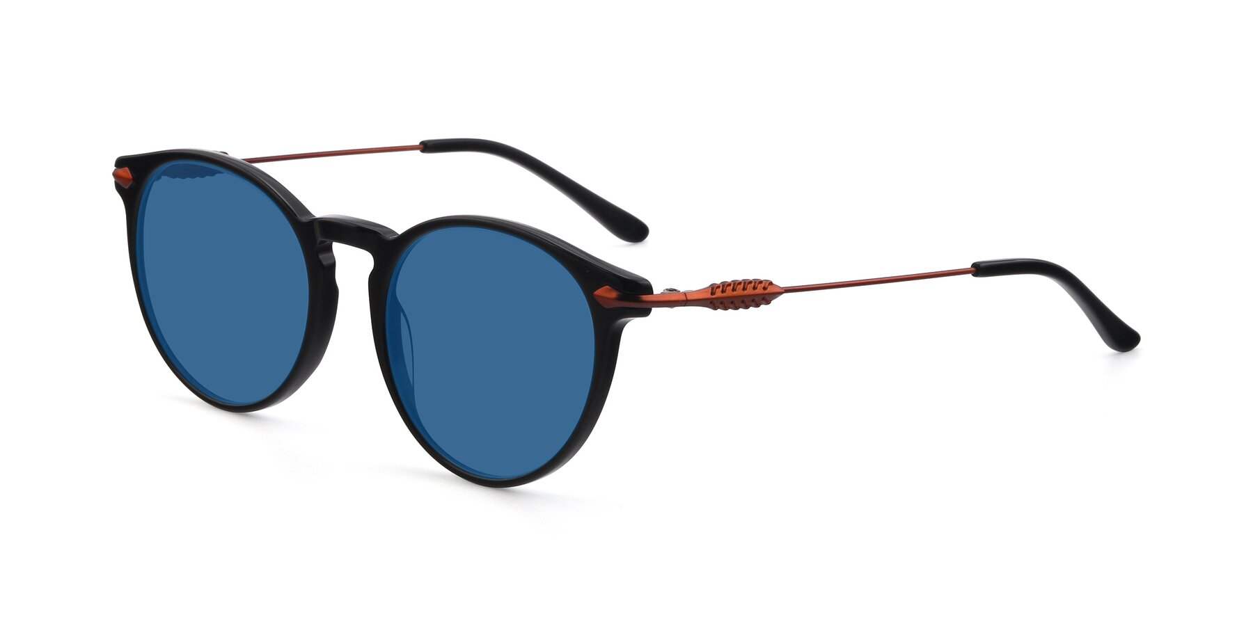 Angle of 17660 in Black with Blue Tinted Lenses