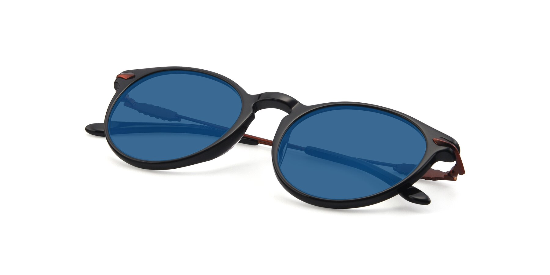 View of 17660 in Black with Blue Tinted Lenses