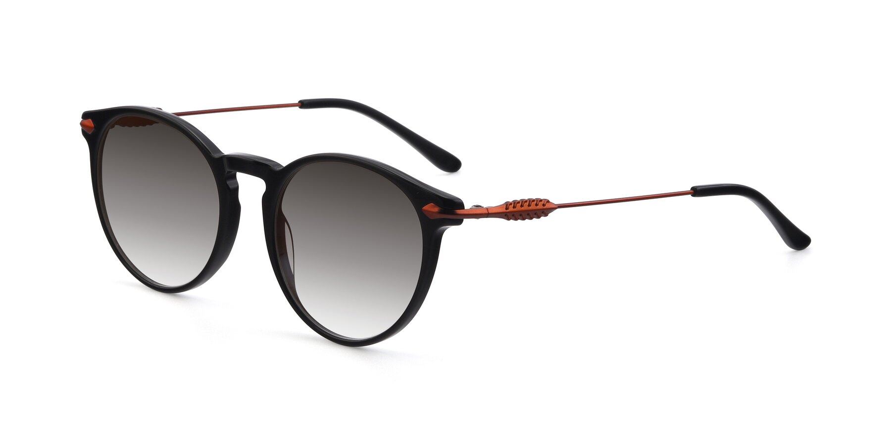 Angle of 17660 in Black with Gray Gradient Lenses
