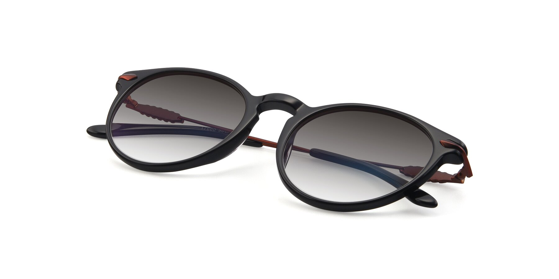 View of 17660 in Black with Gray Gradient Lenses
