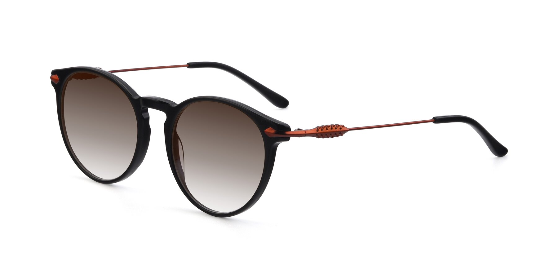 Angle of 17660 in Black with Brown Gradient Lenses