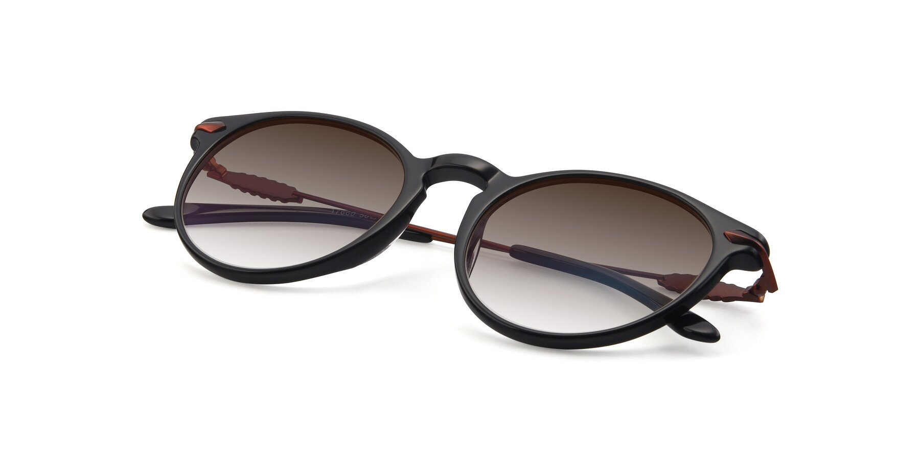 View of 17660 in Black with Brown Gradient Lenses