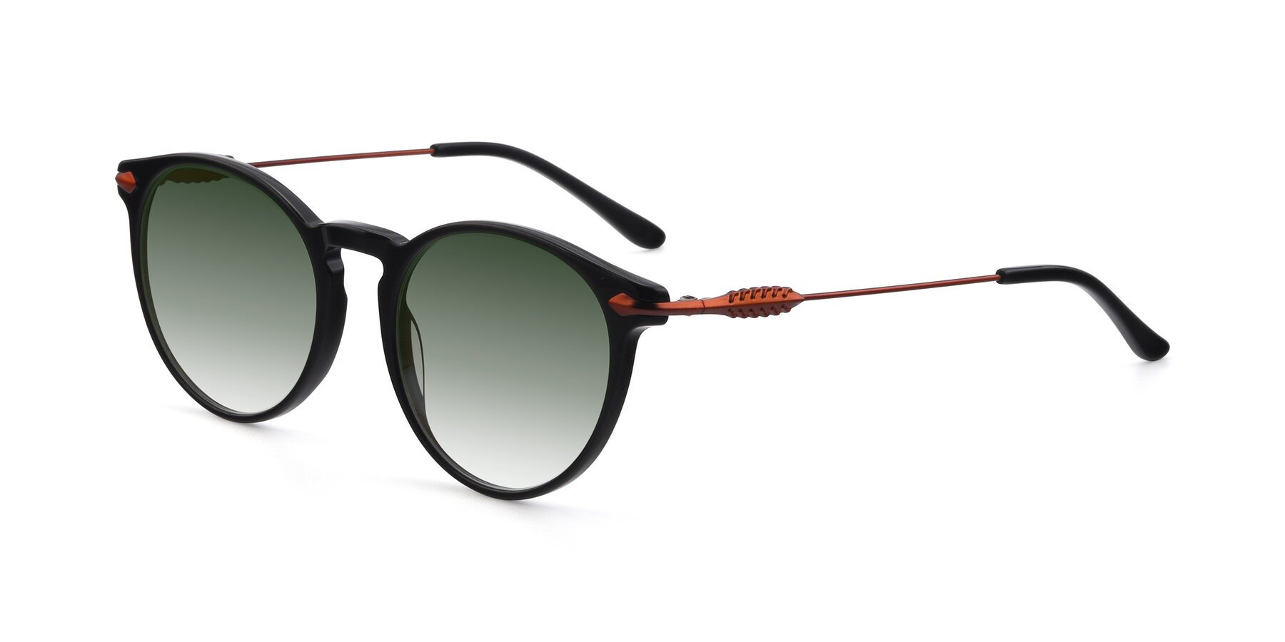 Angle of 17660 in Black with Green Gradient Lenses