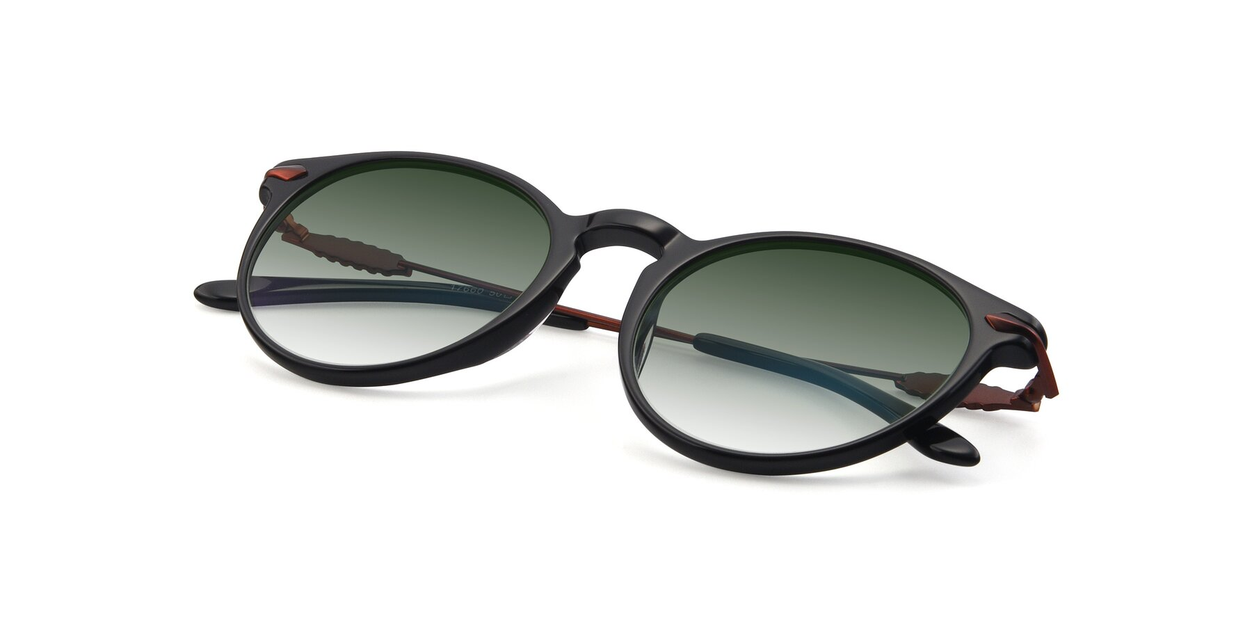 View of 17660 in Black with Green Gradient Lenses