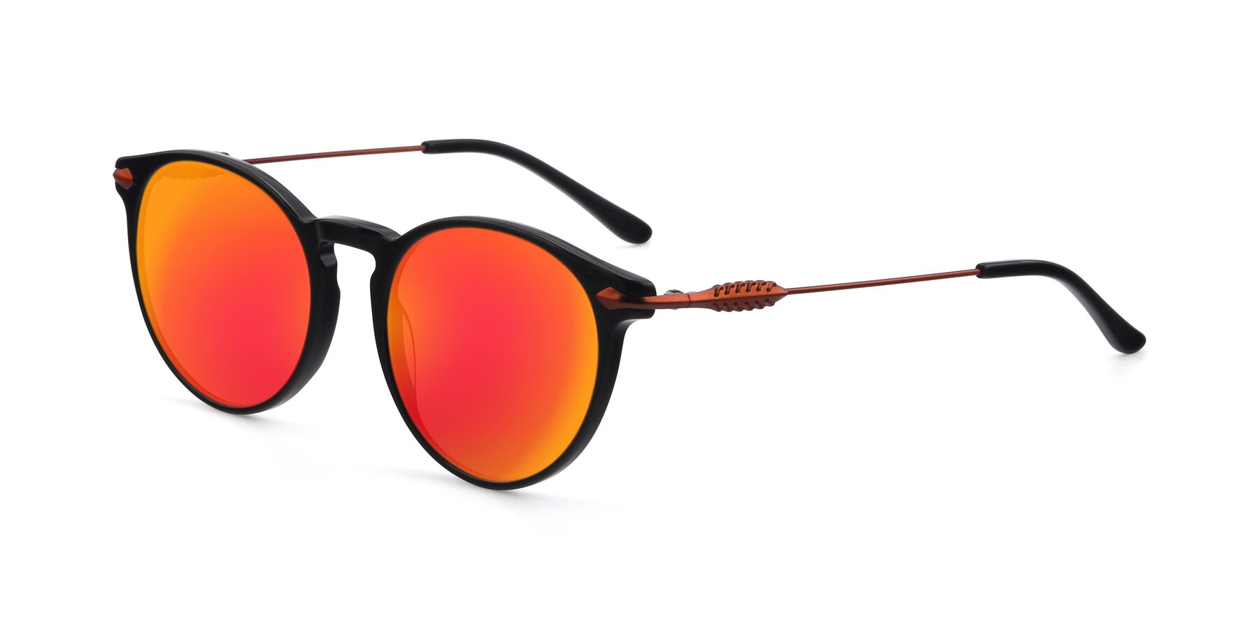 Angle of 17660 in Black with Red Gold Mirrored Lenses