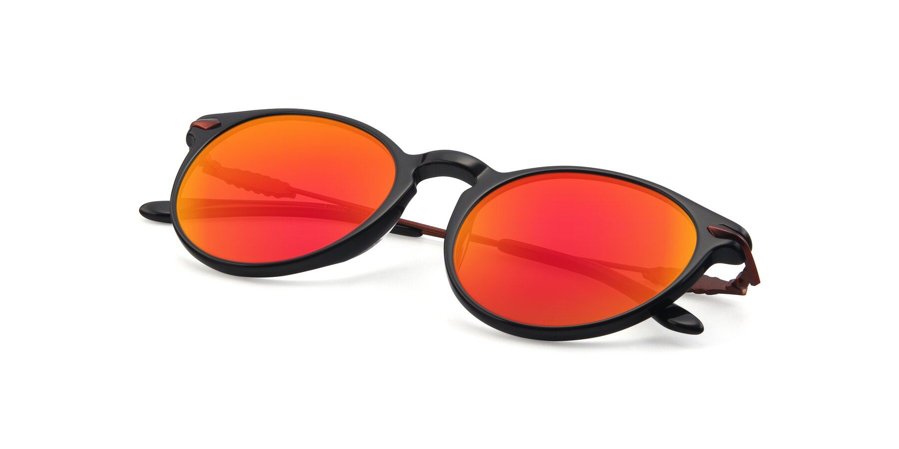 View of 17660 in Black with Red Gold Mirrored Lenses