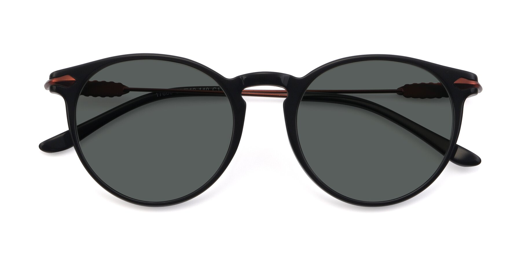 Folded Front of 17660 in Black with Gray Polarized Lenses