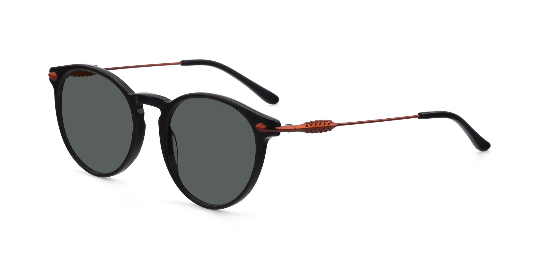 Angle of 17660 in Black with Gray Polarized Lenses
