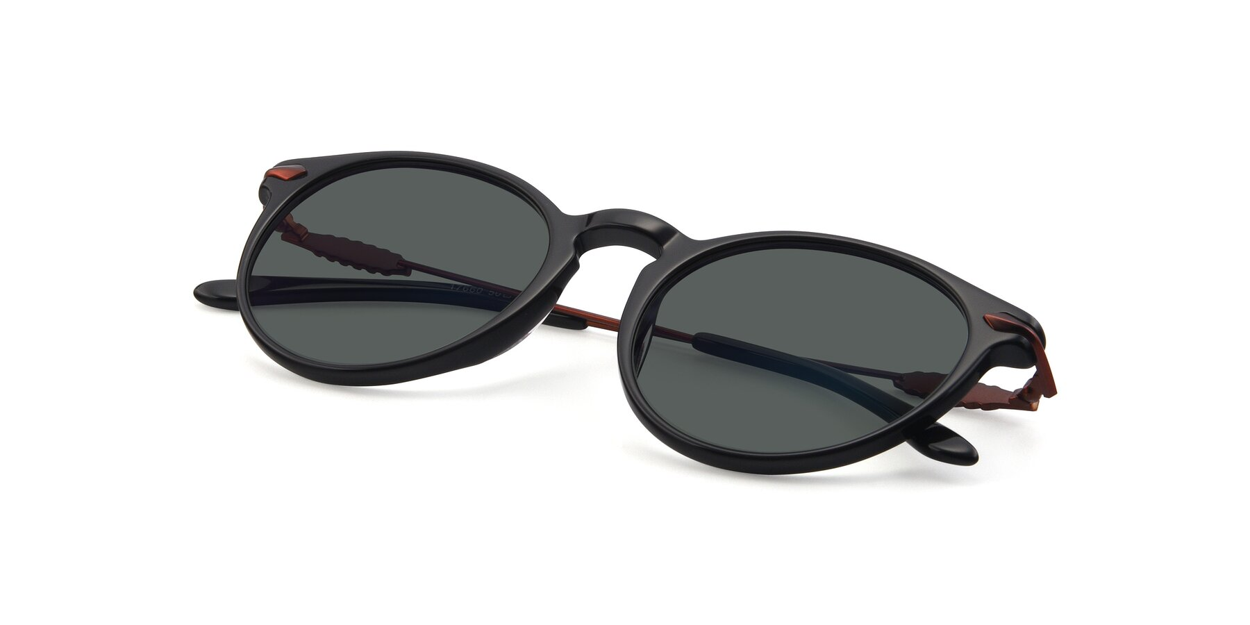 View of 17660 in Black with Gray Polarized Lenses