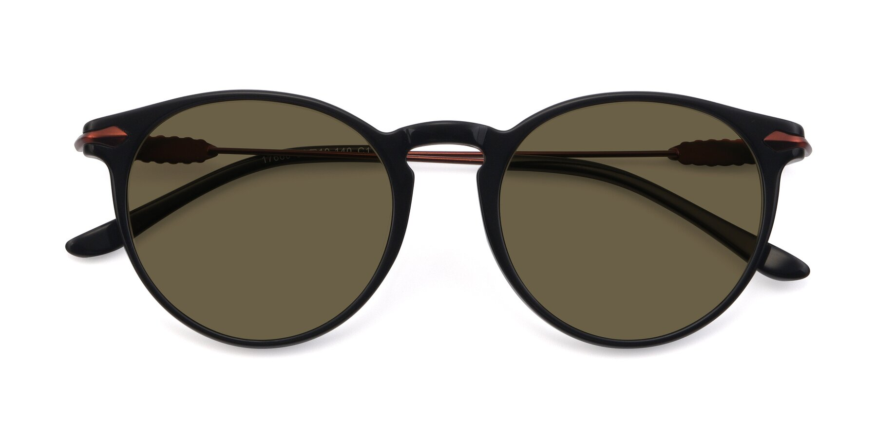 Folded Front of 17660 in Black with Brown Polarized Lenses
