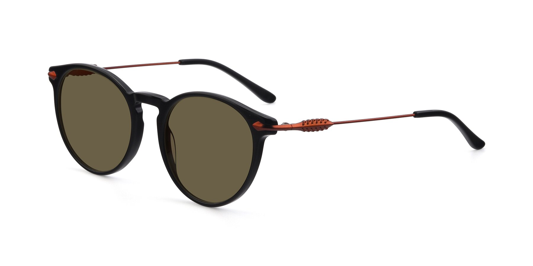 Angle of 17660 in Black with Brown Polarized Lenses