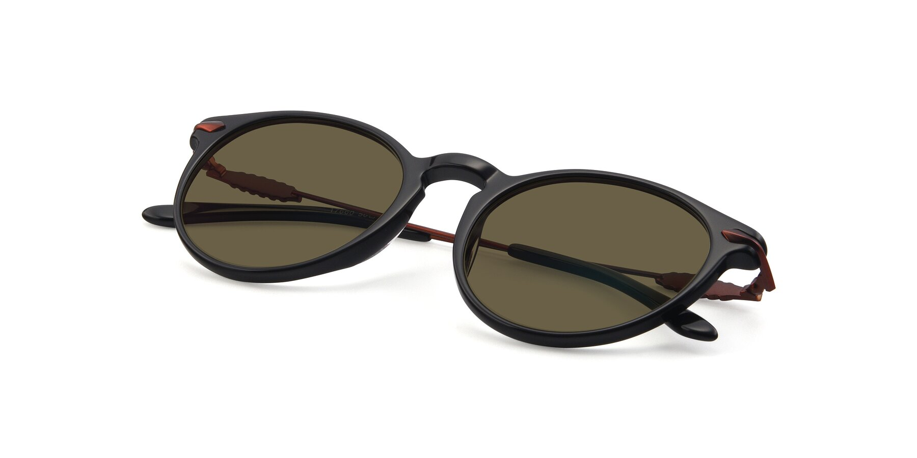View of 17660 in Black with Brown Polarized Lenses