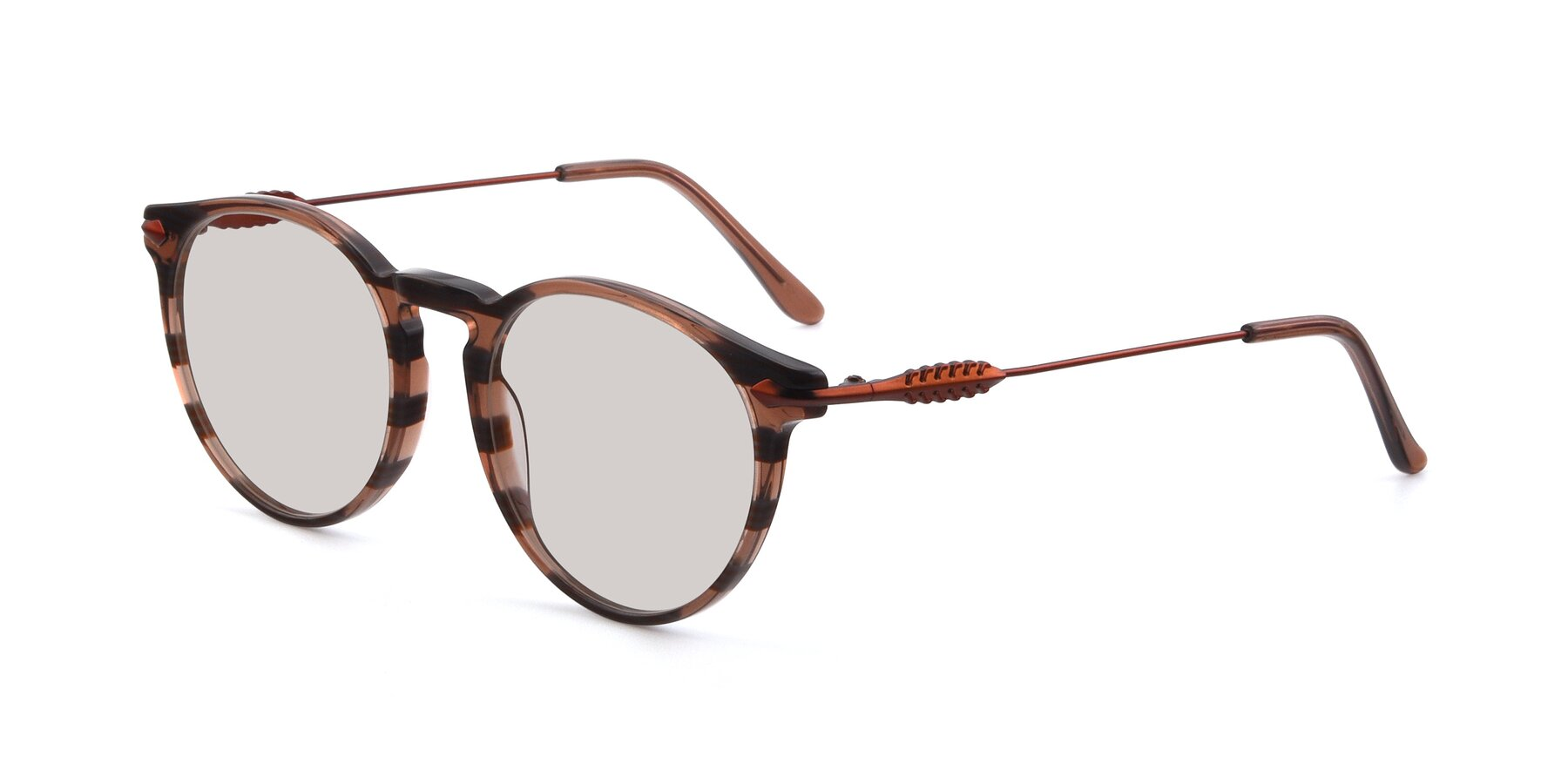 Angle of 17660 in Stripe Brown with Light Brown Tinted Lenses
