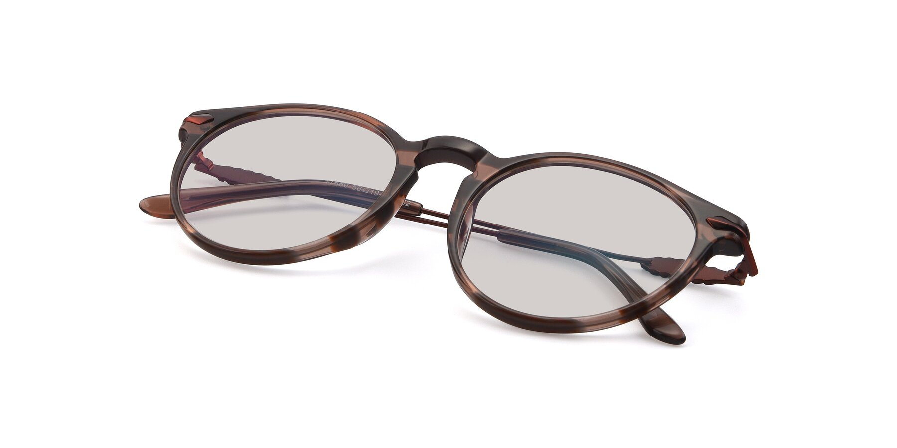 View of 17660 in Stripe Brown with Light Brown Tinted Lenses