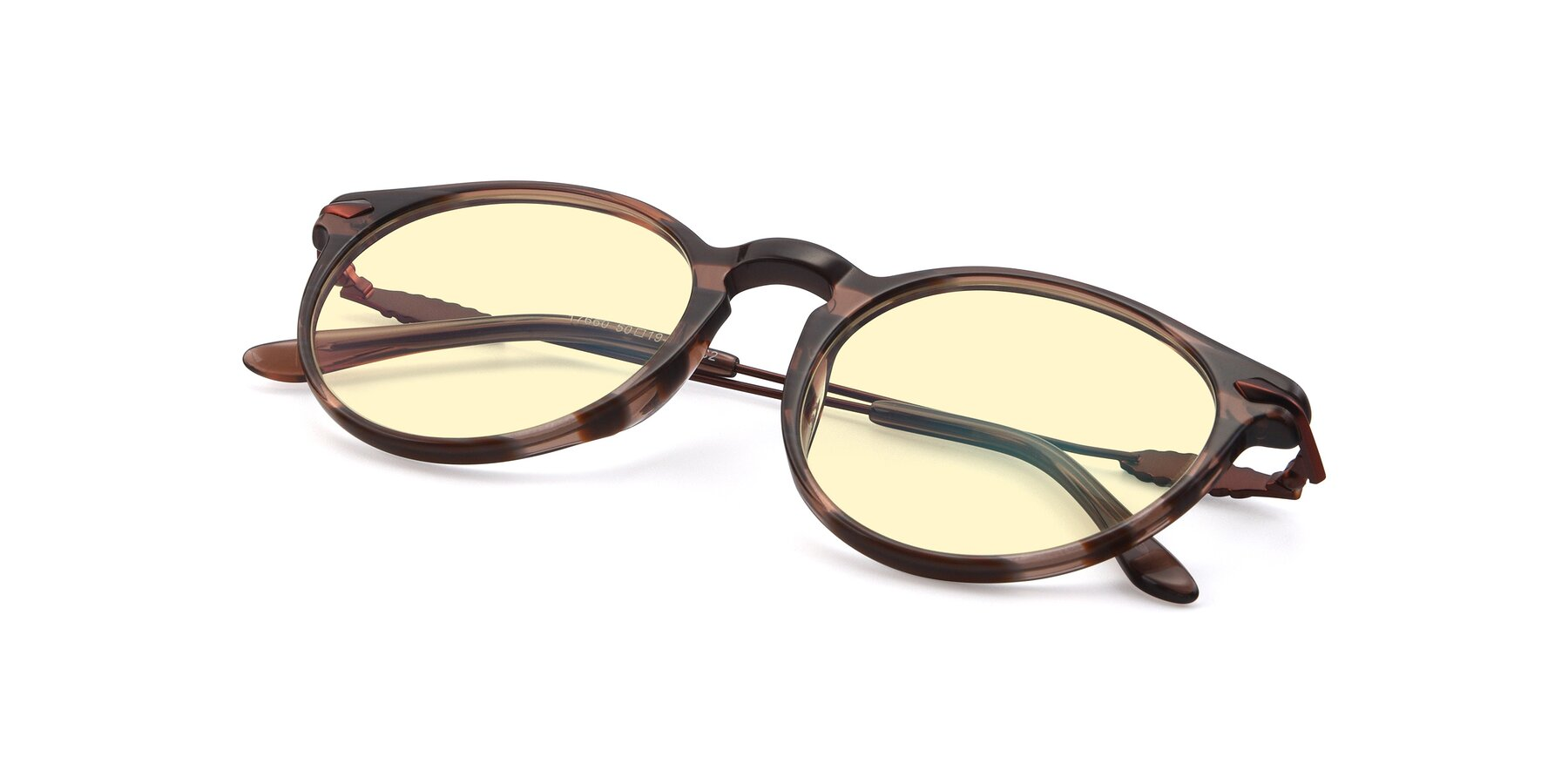 View of 17660 in Stripe Brown with Light Yellow Tinted Lenses