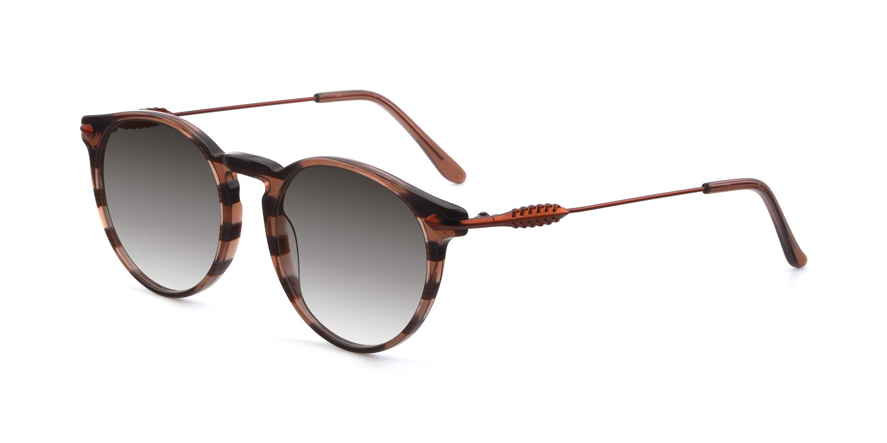 Angle of 17660 in Stripe Brown with Gray Gradient Lenses