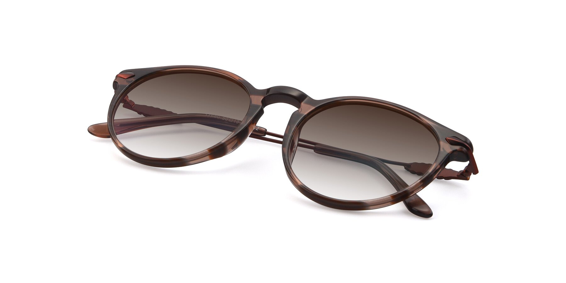 View of 17660 in Stripe Brown with Brown Gradient Lenses