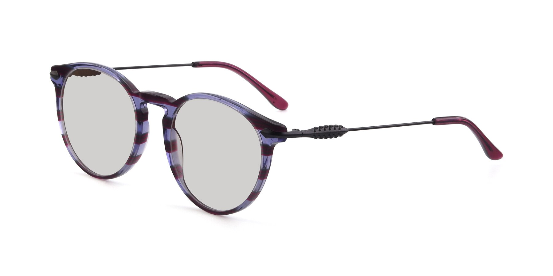 Angle of 17660 in Stripe Purple with Light Gray Tinted Lenses