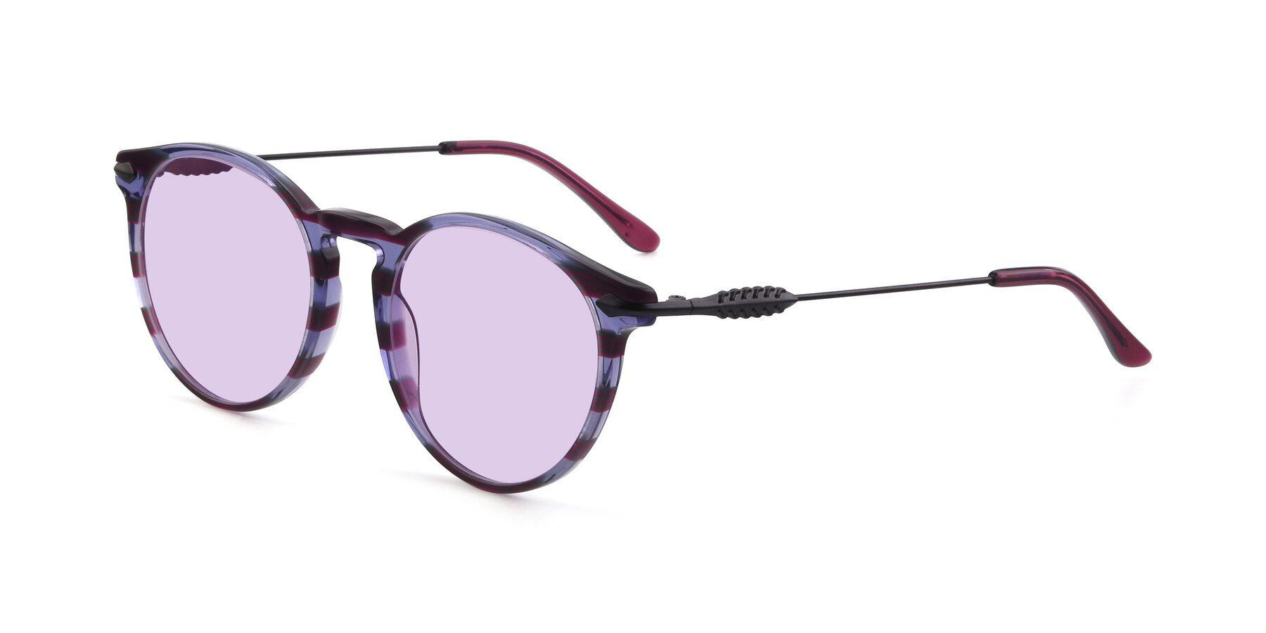 Angle of 17660 in Stripe Purple with Light Purple Tinted Lenses