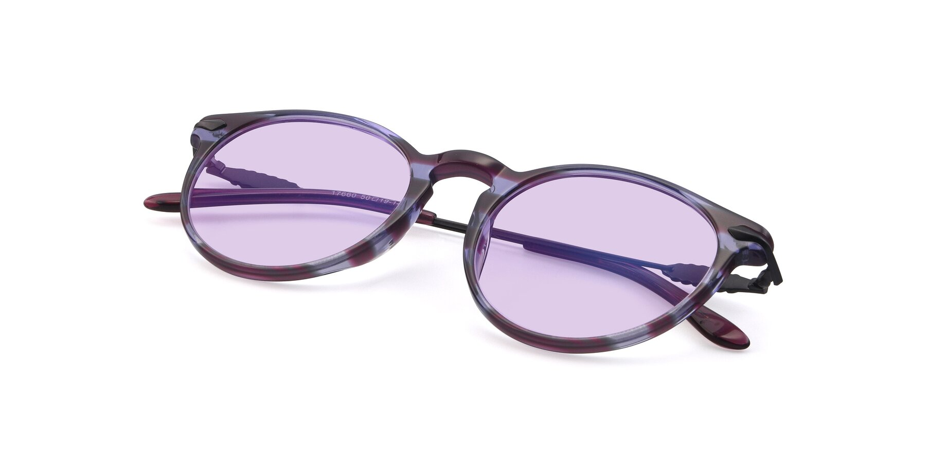 View of 17660 in Stripe Purple with Light Purple Tinted Lenses