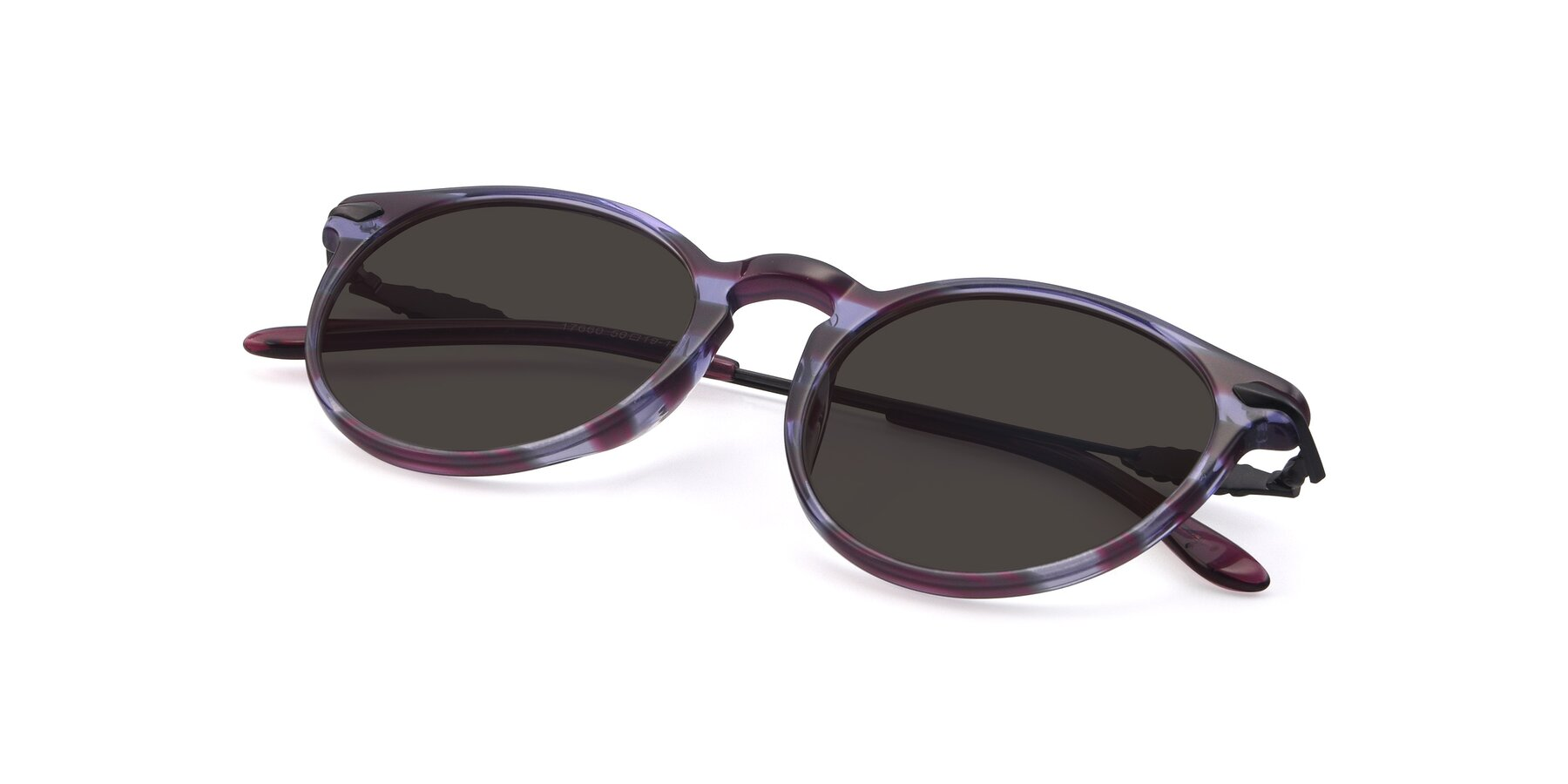 View of 17660 in Stripe Purple with Gray Tinted Lenses