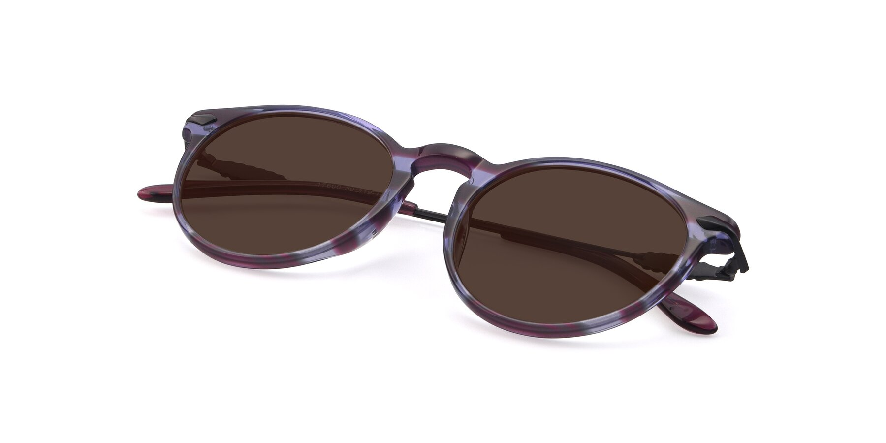 View of 17660 in Stripe Purple with Brown Tinted Lenses
