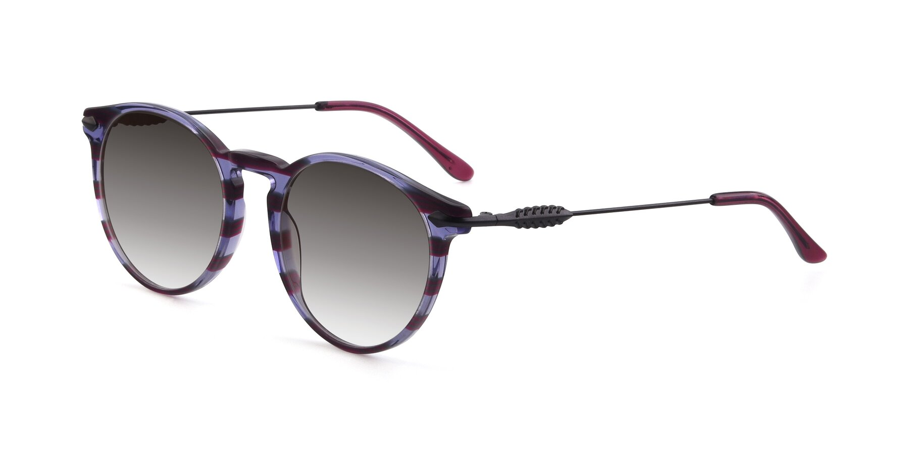 Angle of 17660 in Stripe Purple with Gray Gradient Lenses