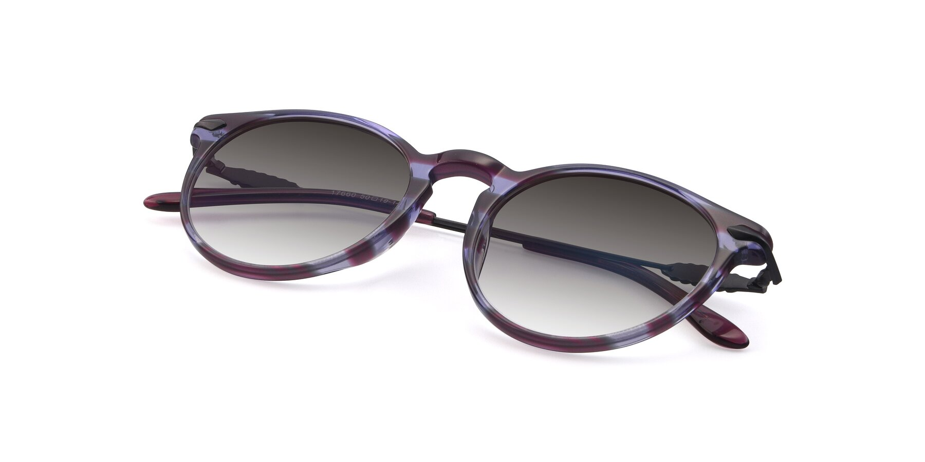 View of 17660 in Stripe Purple with Gray Gradient Lenses