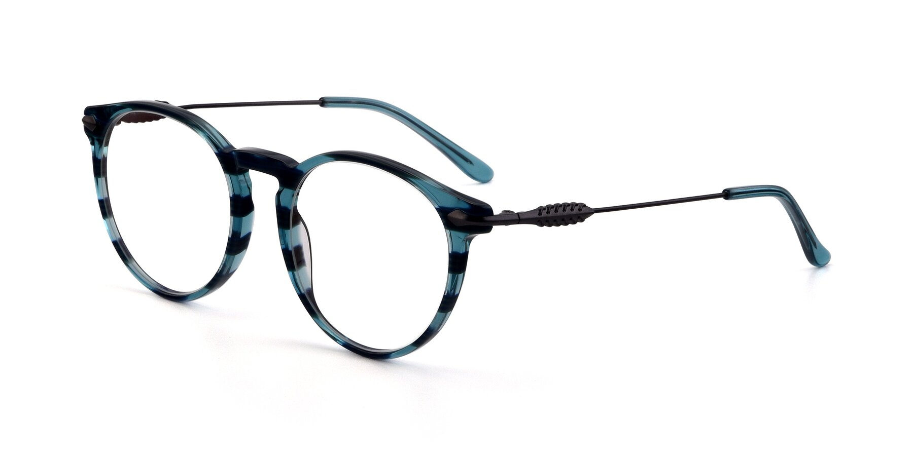 Angle of 17660 in Stripe Blue with Clear Blue Light Blocking Lenses