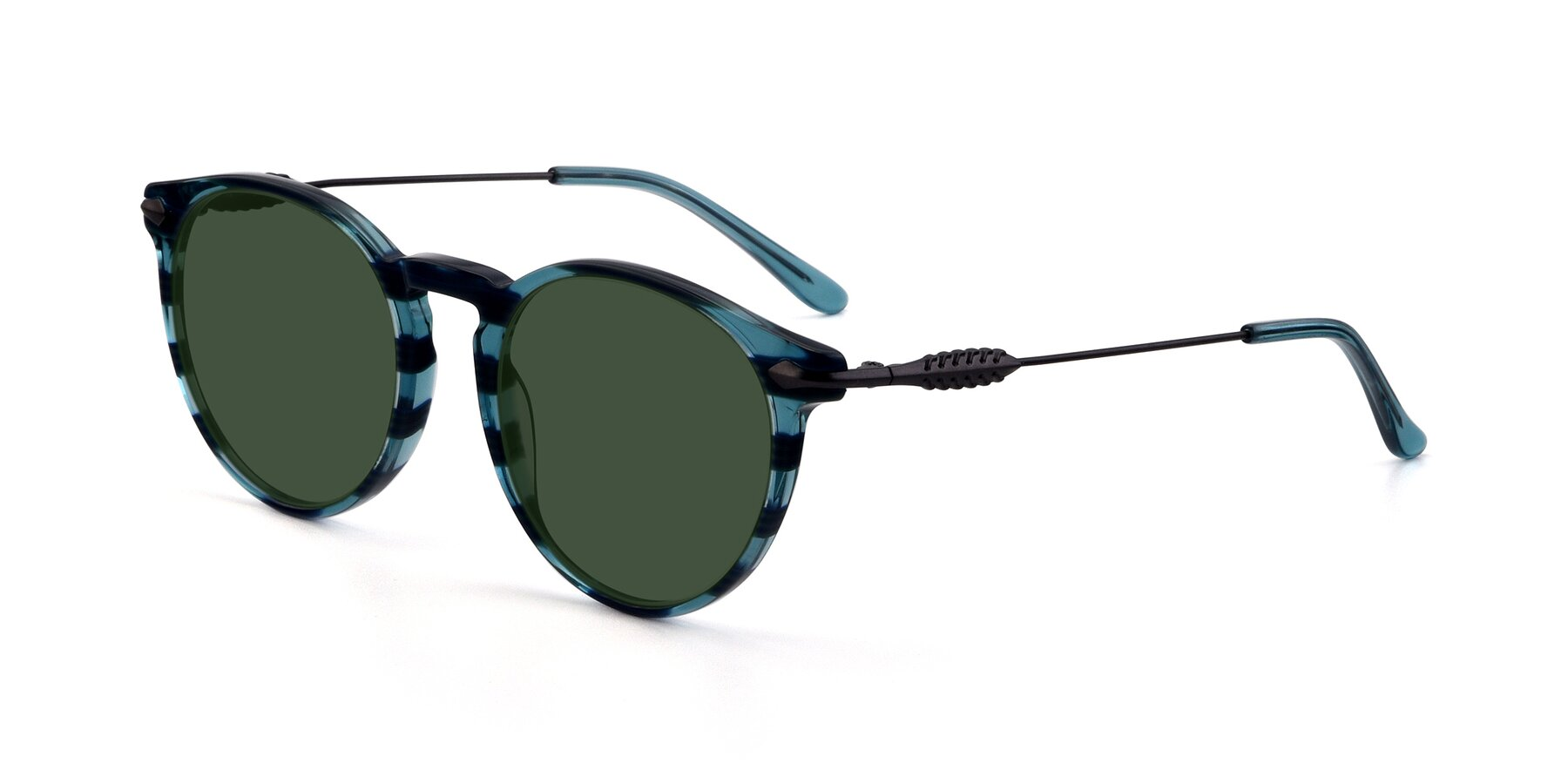 Angle of 17660 in Stripe Blue with Green Tinted Lenses