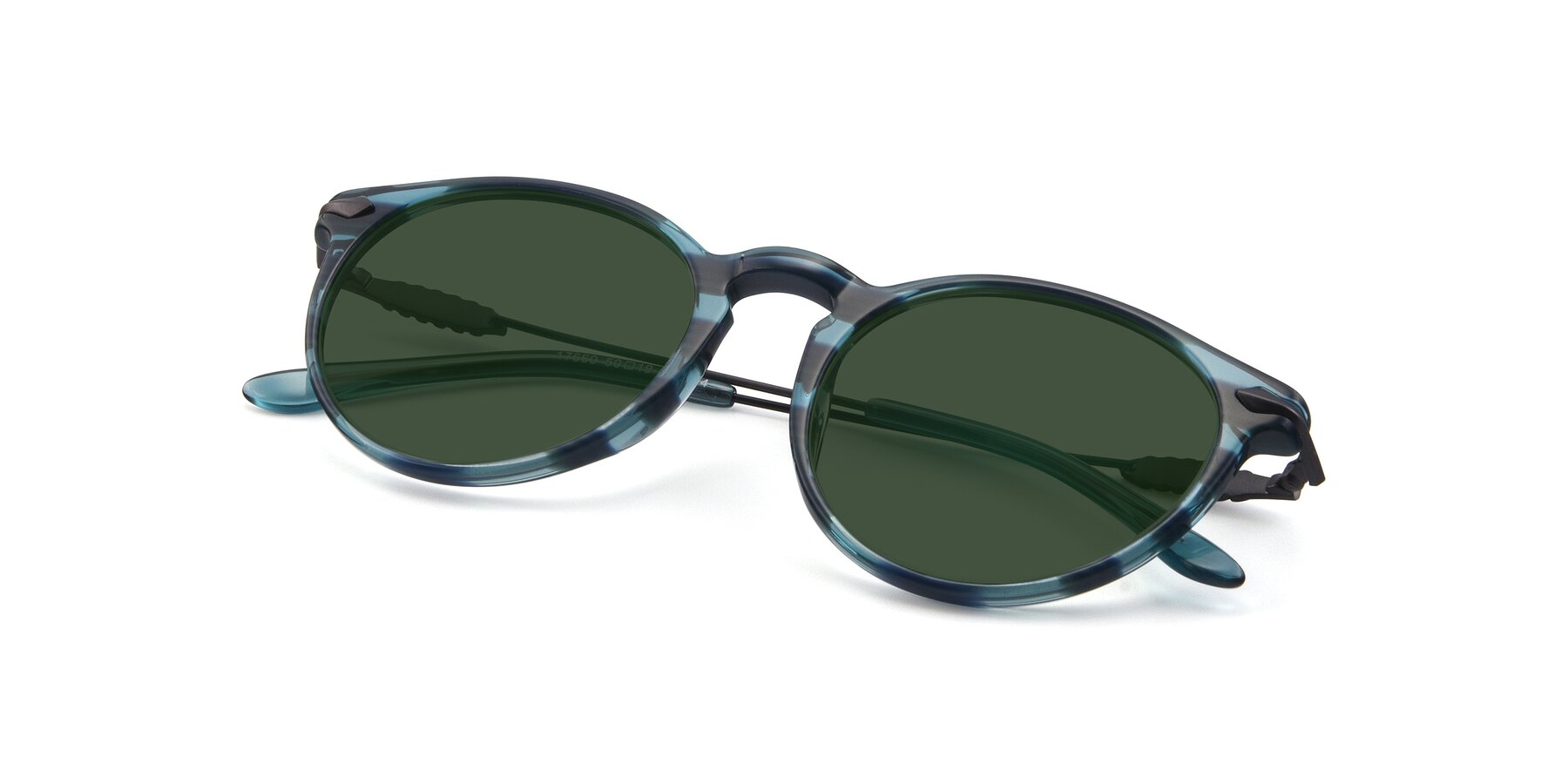 View of 17660 in Stripe Blue with Green Tinted Lenses