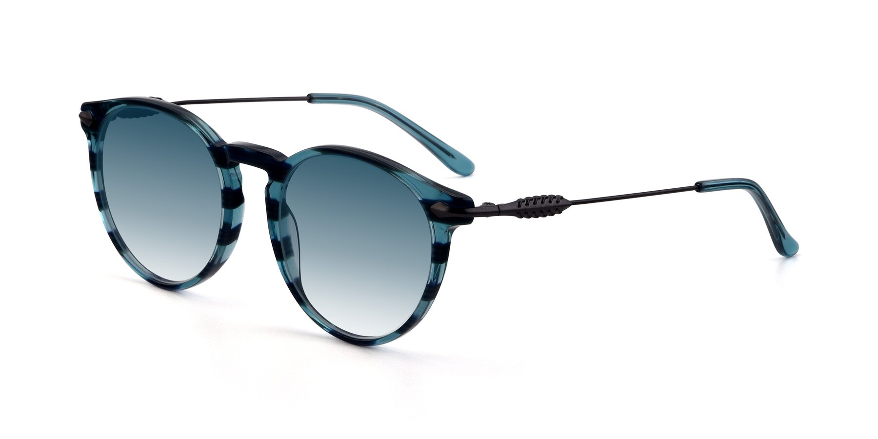 Angle of 17660 in Stripe Blue with Blue Gradient Lenses