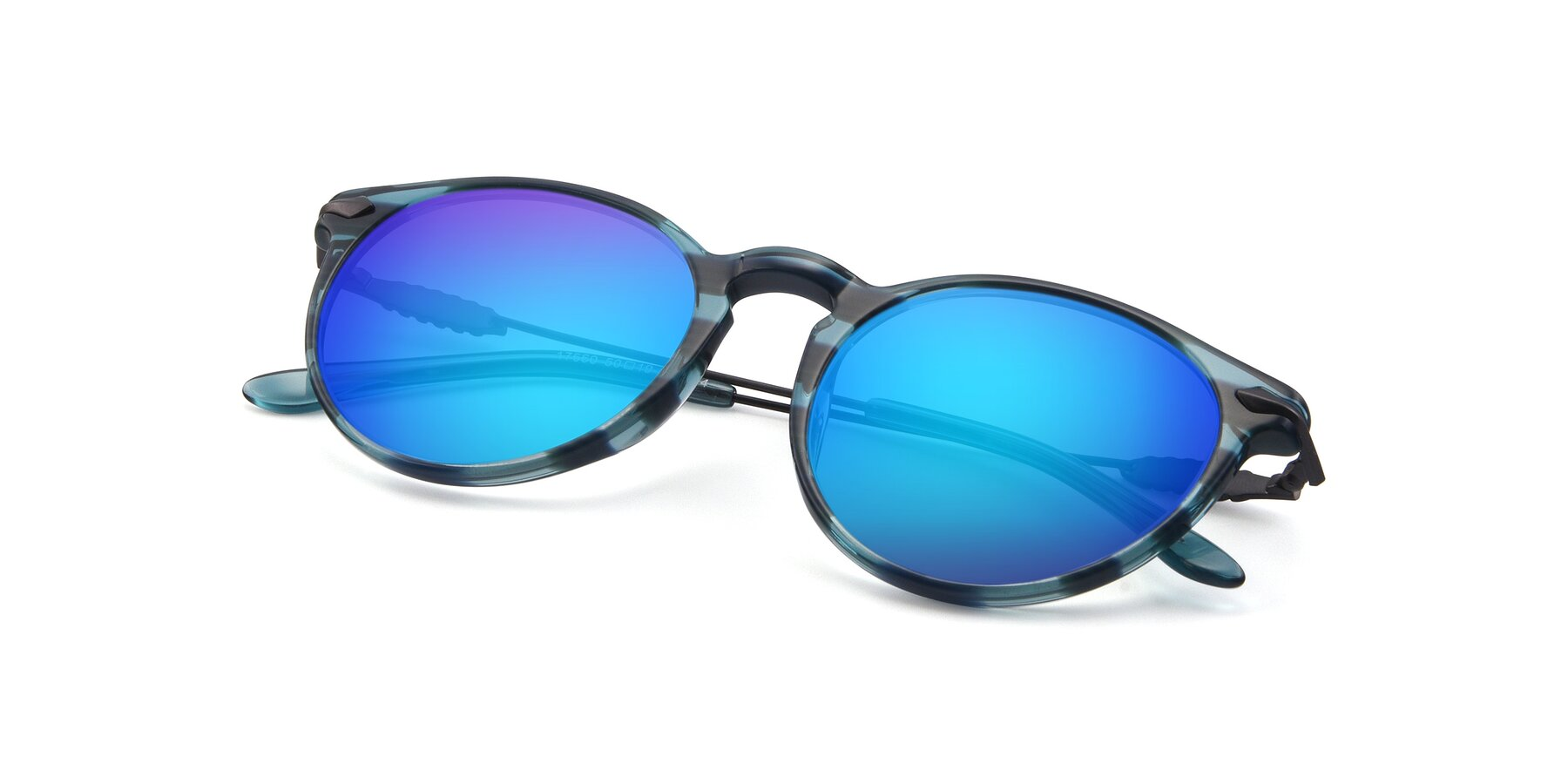 View of 17660 in Stripe Blue with Blue Mirrored Lenses