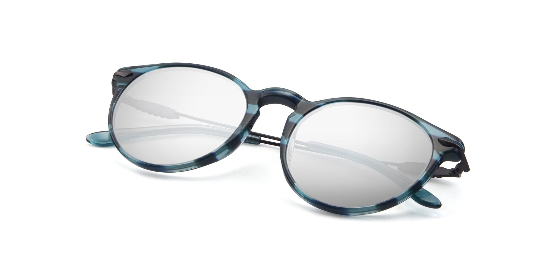 View of 17660 in Stripe Blue with Silver Mirrored Lenses